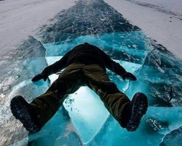 Chilling out on the Dettah Ice Road, Yellowknife, Canada.
