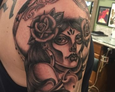 Day of the Dead Charra by Chuco Moreno at Zombie Tattoo in Norco, CA