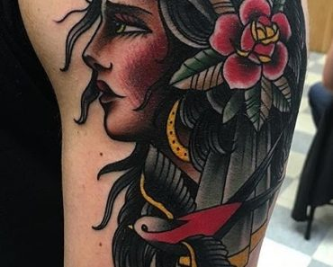 Gypsy tattoo done by Kyle at the Boston Tattoo Company in Somerville, MA