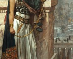 Queen Zenobia's Last Look Upon Palmyra, Herbert Gustave Schmalz, oil on canvas, 1888.