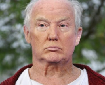 Trump with no tan and no hair