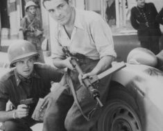 American officer and French resistance fighter