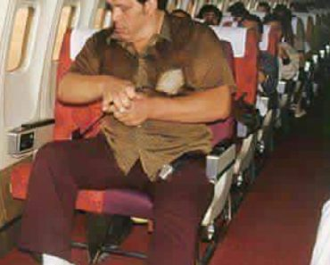 Andre The Giant on a plane
