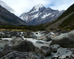 Mt. Cook from the Hooker Valley Track, New Zealand