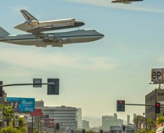 A Space Shuttle Over Los Angeles