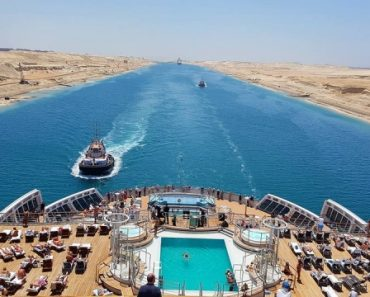The view from a cruise ship