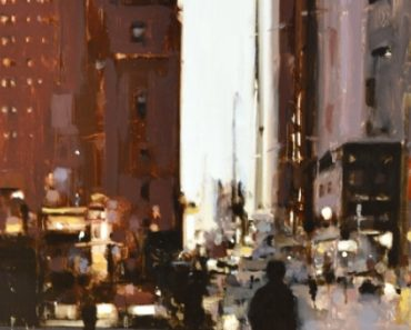 """Evening eighth Avenue"" Geoffrey Johnson"