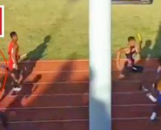 HS relay runner hits turbo button to pull off unbelievable come-from-behind win