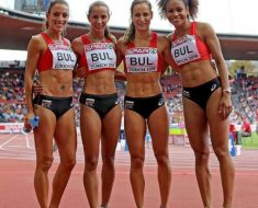 The Bulgarian 4×100 relay group.