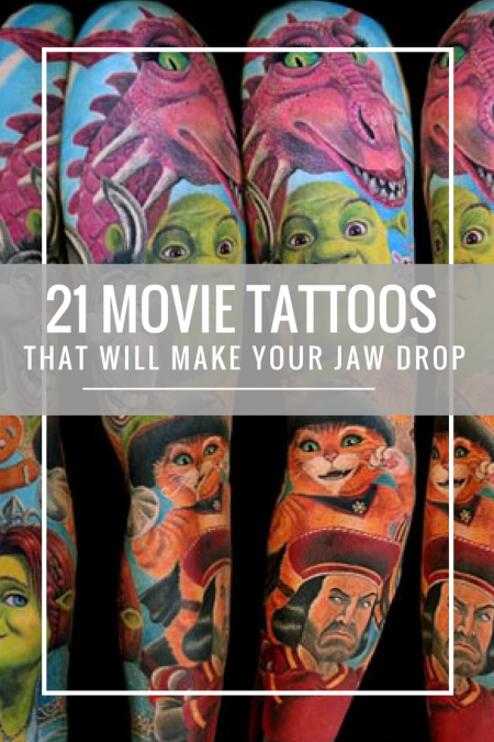 Jaw Drop Ink Tattoos: 21 Movie Tattoos That Will Make Your Jaw Drop